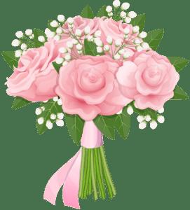 Flores - Buque de Rosa cor de Rosa PNG