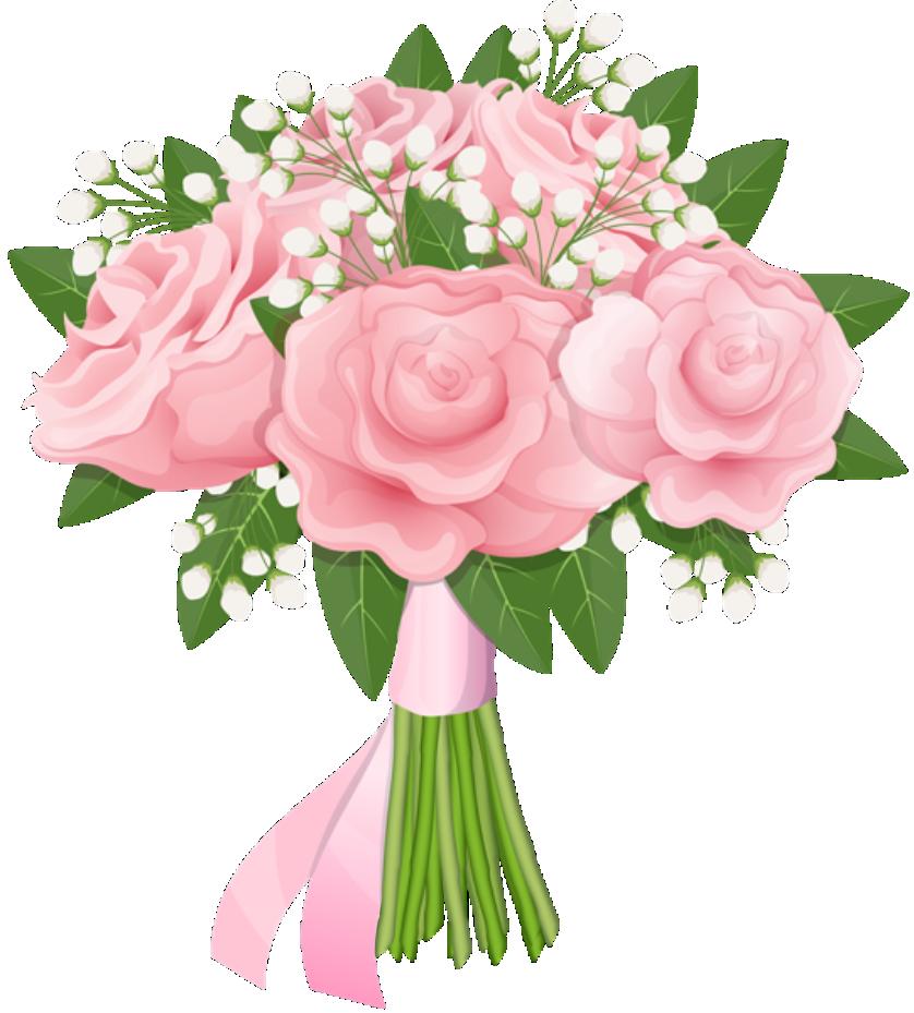 Flores Buque De Rosa Cor De Rosa Png Imagens E Moldescombr
