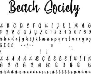 Fonte Beach Society para Baixar Grátis