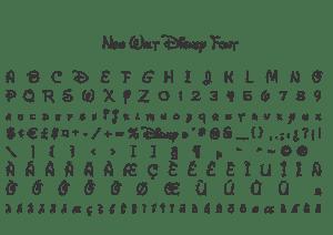 Fonte New Walt Disney Font para Baixar Grátis
