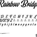 Fonte Rainbow Bridge para Baixar Grátis