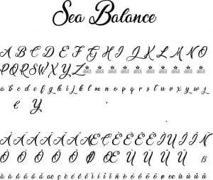Fonte Sea Balance para Baixar Grátis