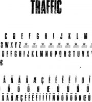 Fonte TRAFFIC para Baixar Grátis