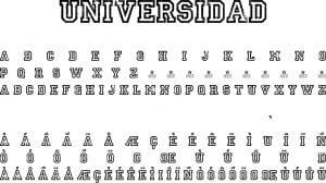 Fonte UNIVERSIDAD para Baixar Grátis