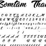 Fonte Zomtam Thai para Baixar Grátis