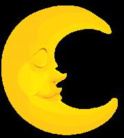 Imagem Lua - Lua Crescente Dormindo