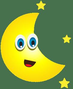 Imagem Lua - Lua Crescente com Estrelas 2