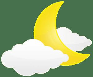 Imagem Lua - Lua Crescente e Nuvem