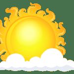 Imagem Sol – Sol entre Nuvens 3 PNG