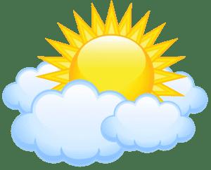 Imagem Sol - Sol entre Nuvens