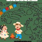 Molde de Festa Junina 6 para Feltro, Eva e Artesanato