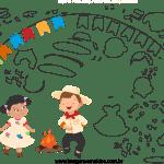 Molde de Festa Junina 8 para Feltro, Eva e Artesanato