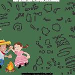 Molde de Festa junina 11 para Eva, Feltro e Artesanato