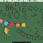 Molde de Festa Junina 14 para Feltro, Eva e Artesanato