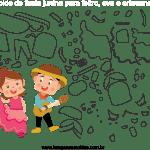 Molde de Festa Junina 15 para Feltro, Eva e Artesanato