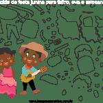 Molde de Festa Junina 16 para Feltro, Eva e Artesanato