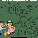 Molde de Festa Junina 19 para Feltro, Eva e Artesanato