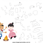 Molde de Festa Junina 20 para Feltro, Eva e Artesanato