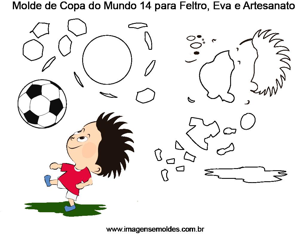 Molde de Copa do Mundo 15 para Eva, Feltro e Artesanato