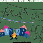 Molde de Festa Junina 13 para Feltro, Eva e Artesanato