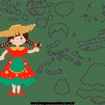 Molde de Festa Junina 23 para Feltro, Eva e Artesanato