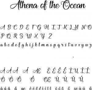 Fonte Athena of the Ocean para Baixar Grátis