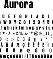 Fonte Aurora para Baixar Grátis