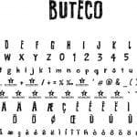 Fonte BUTECO para Baixar Grátis