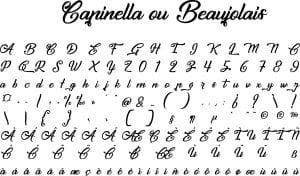 Fonte Capinella ou Beaujolais para Baixar Grátis