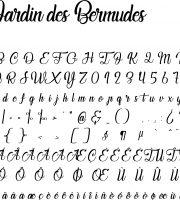 Fonte Jardin des Bermudes para Baixar Grátis