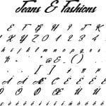 Fonte Jeans & Fashions para Baixar Grátis