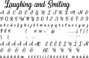 Fonte Laughing and Smiling para Baixar Grátis