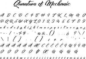 Fonte Quantum of Mechanic para Baixar Grátis