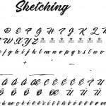 Fonte Sketching para Baixar Grátis