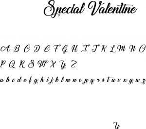 Fonte Special Valentine para Baixar Grátis