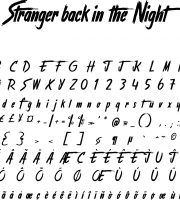 Fonte Stranger back in the Night para Baixar Grátis