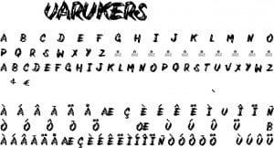 Fonte Varukers para Baixar Grátis