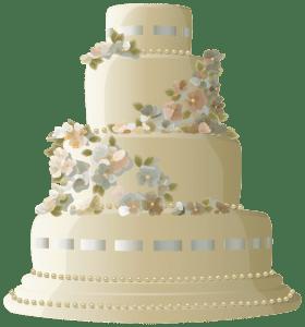 Imagem de Bolos - Bolo Decorado Casamento 2 PNG