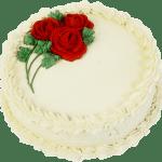 Imagem de Bolos – Bolo Decorado com Flores Vermelhas PNG