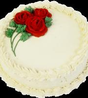 Imagem de Bolos - Bolo Decorado com Flores Vermelhas PNG