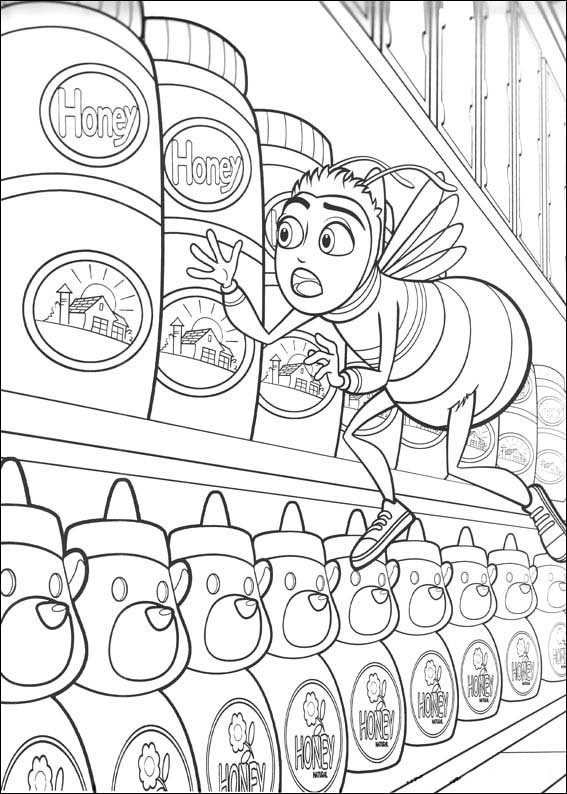 desenhos para colorir bee movie a história de uma abelha