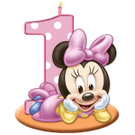 Turma do Mickey Minnie Baby 1 ano PNG