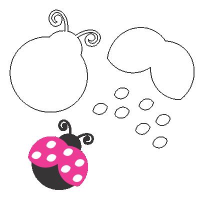 Molde JOANINHA para feltro, eva artesanato e papelaria personalizada, Божья коровка форма для войлока, эва, フェルト、EVA用てんとう虫型, Moule à coccinelle pour feutre, eva, Marienkäferform für Filz, eva, Molde de mariquita para fieltro, eva, Ladybug mold for felt, eva