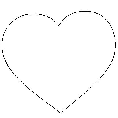 molde coracao