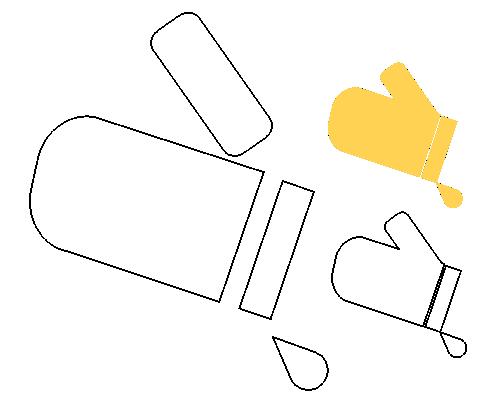 molde eva e feltro luva de cozinha, Kitchen Glove Mold for EVA Felt, Molde de guante de cocina para fieltro de EVA, Küchenhandschuhform für EVA Filz, Moule de gant de cuisine pour feutre EVA, EVAフェルト用キッチングローブモールド, Форма кухонной перчатки для войлока EVA