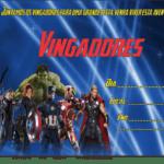 Modelo de Convite Vingadores