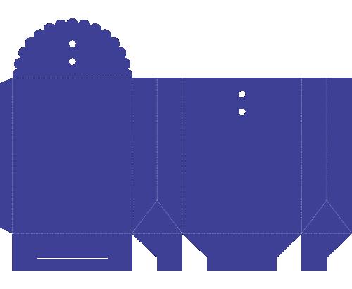 Molde de Caixa - Caixa Envelope, Box-Vorlage - Umschlag-Box, Plantilla de caja - Caja de sobres, Box Template - Envelope Box