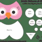 Molde Máscara de Dormir Coruja – Molde para Feltro – EVA e Artesanato