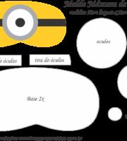 Molde Máscara de Dormir Minions - Molde para EVA - Felro e Artesanato