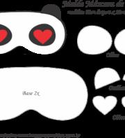 Molde Máscara de Dormir Panda - Molde para EVA - Feltro e Artesanato